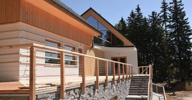 CLT gradnja lesene hiše