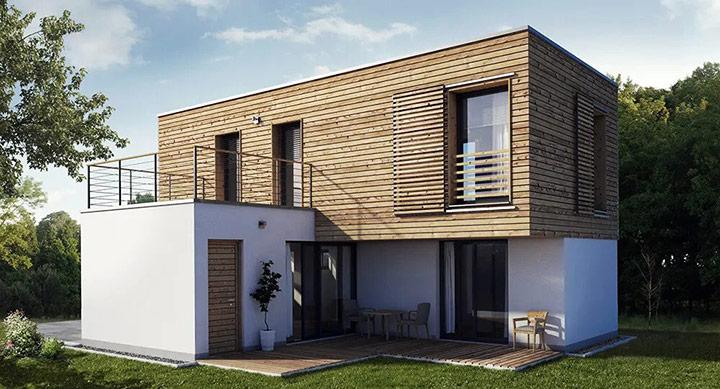 Moderna tipska CLT lesena hiša FA 90