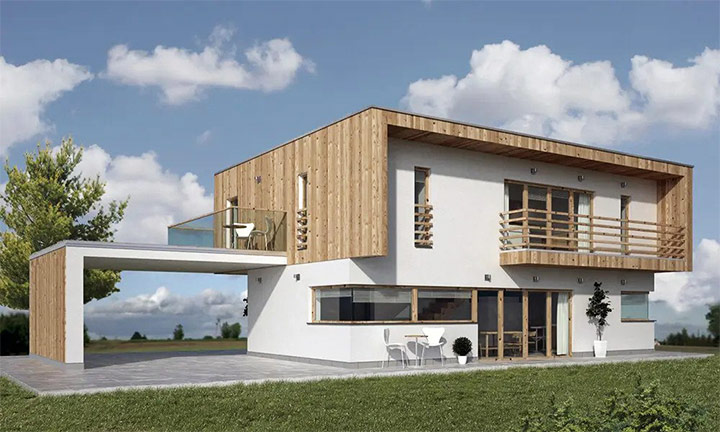 Tipska CLT montažna hiša Artenova 135